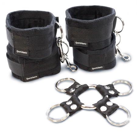 5 Piece Hog Tie And Cuff Set